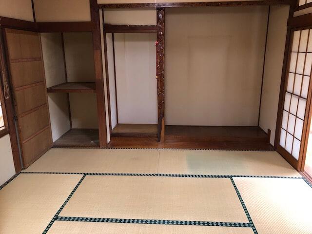 整理された和室